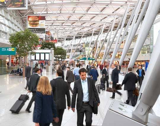 Abflughalle Flughafen Düsseldorf