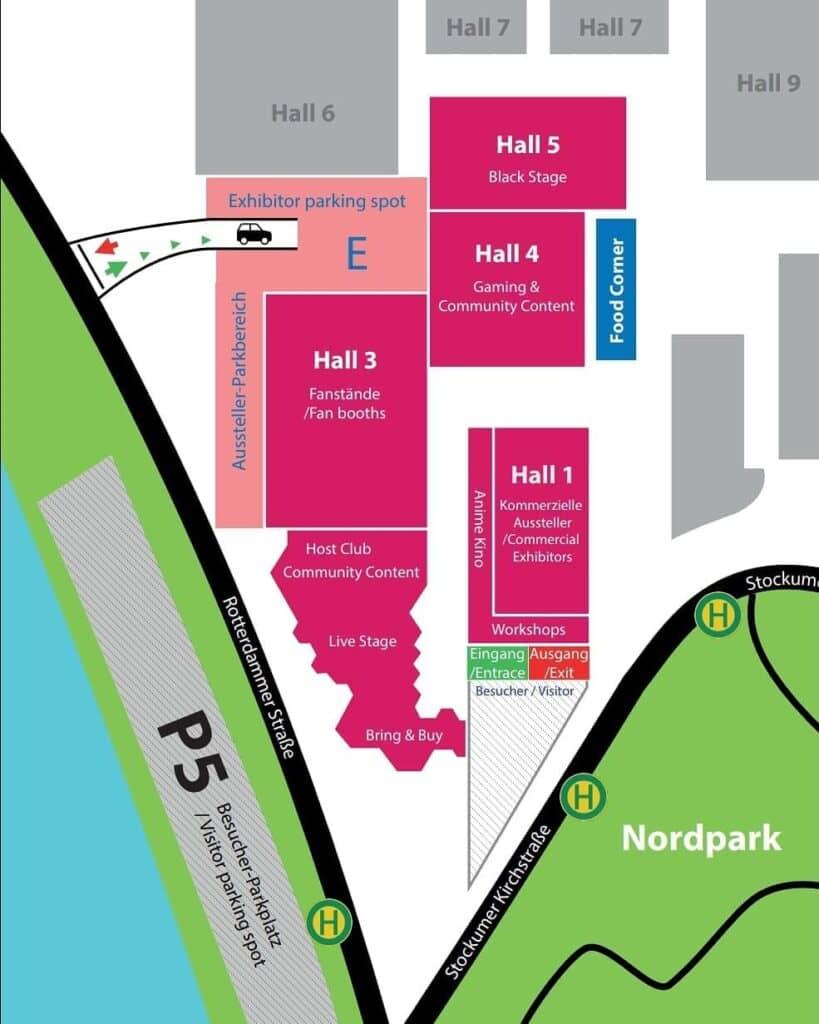 Event-Gelände der DoKomi 2020
