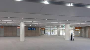 Foyer OG im CCD Süd mit Blick auf Raum 2 und 3