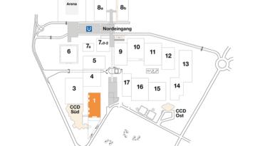 Plan CCD Messegelände Halle 1