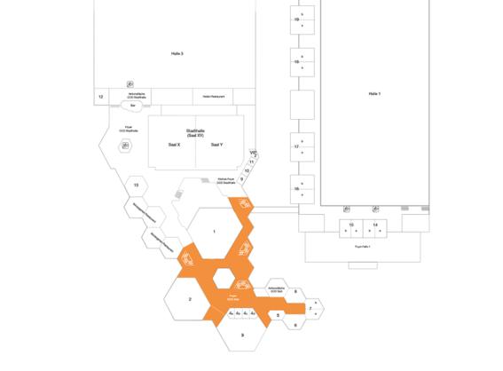 Plan CCD Süd 1 OG Foyer