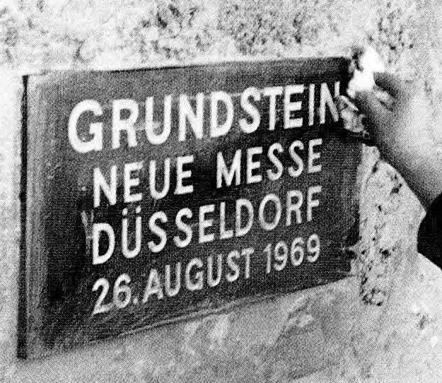 """Grundsteinlegung zum """"neuen"""" Messegeländes in Stockum"""