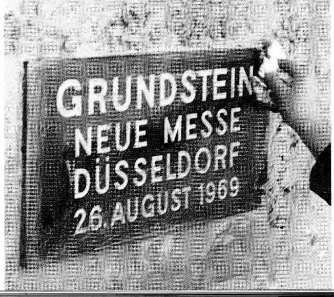 Grundsteinlegung des Messegeländes in Düsseldorf-Stockum