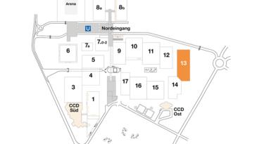 Plan CCD Messegelände Halle 13
