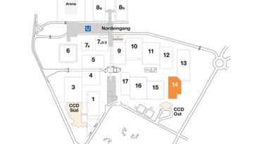 Plan CCD Messegelände Halle 14