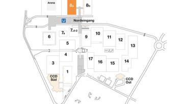 Plan CCD Messegelände Halle 8a