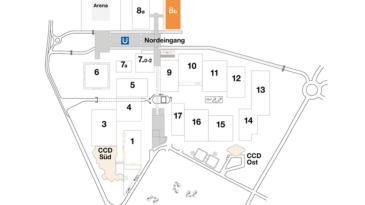 Plan CCD Messegelände Halle 8b