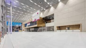Foyer Halle 1 mit Blick auf das CCD